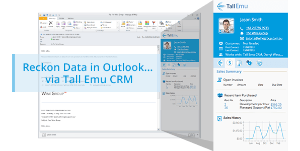 Tall Emu CRM and Reckon Data - See Reckon data in Outlook